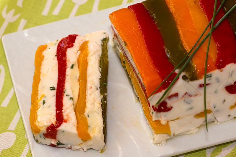 Cake Chevre Olive Poivron