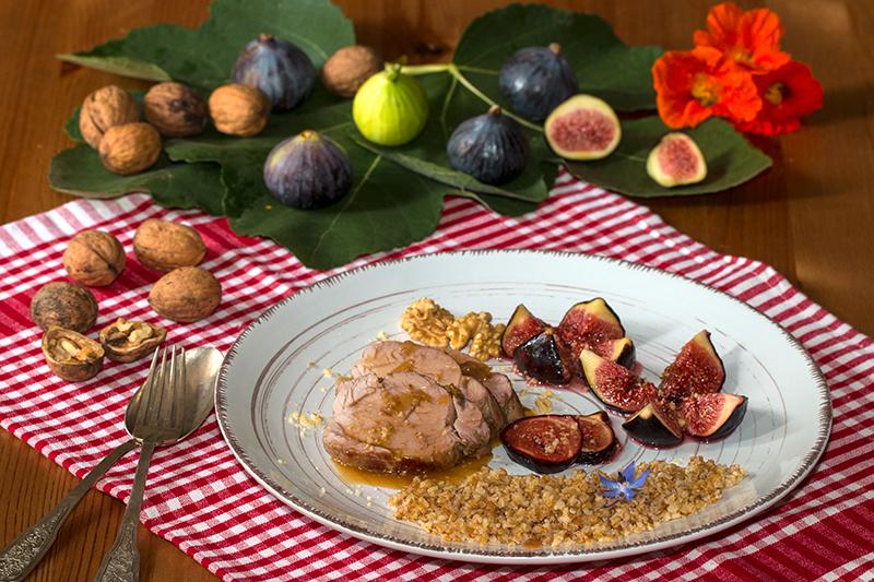 Filet mignon de porc au miel et aux figues confites la - Cuisiner un filet mignon de porc au four ...