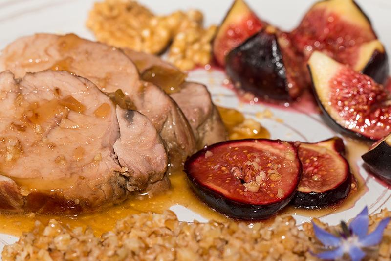 Filet mignon de porc au miel et aux figues confites la - Cuisine filet mignon de porc ...
