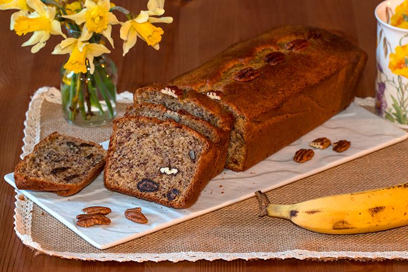 Cake Banane Noix De Pecan Chocolat