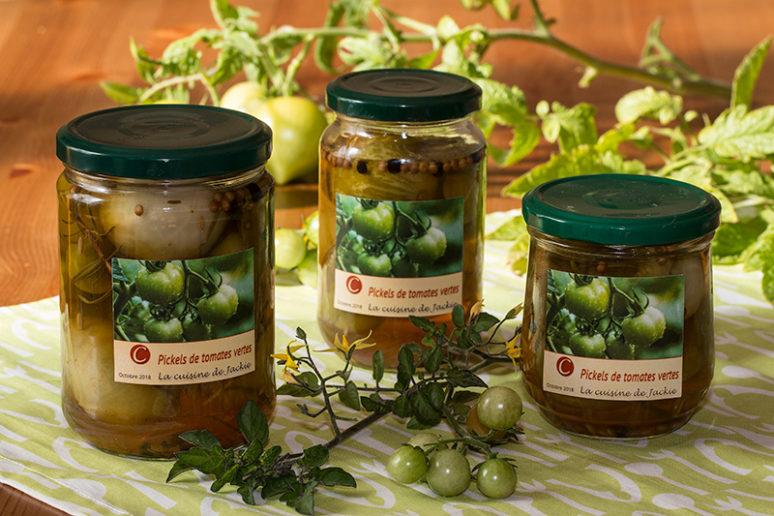 pickles tomats vertes