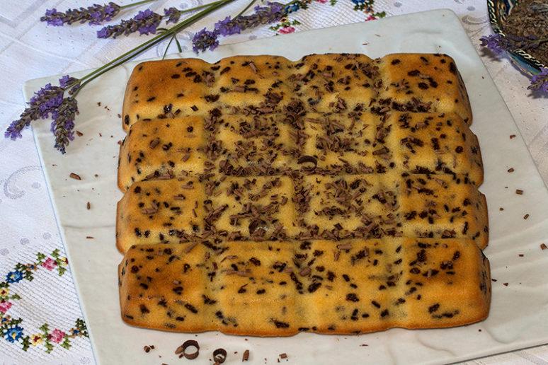 Gâteau madeleine tigré
