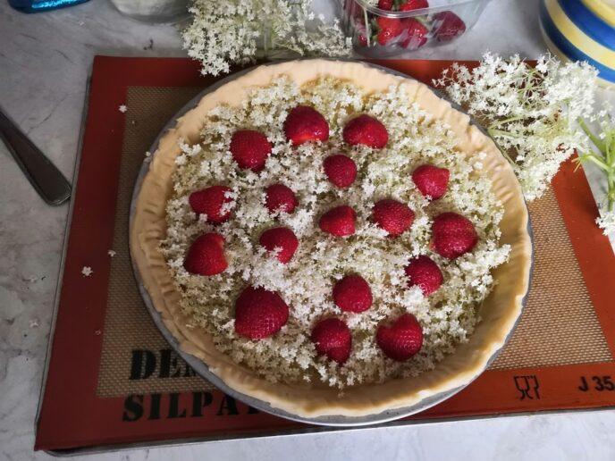 tarte aux fleurs de sureau