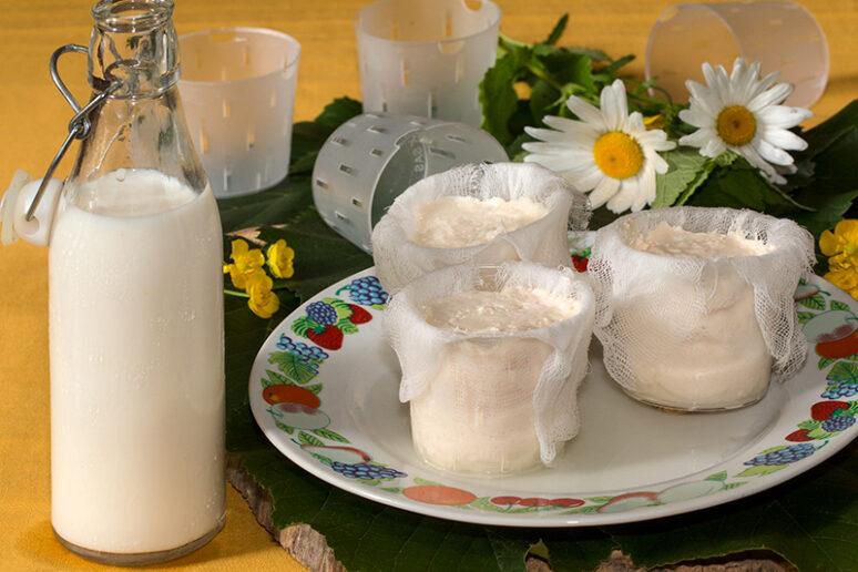 faisselles au lait de chèvre