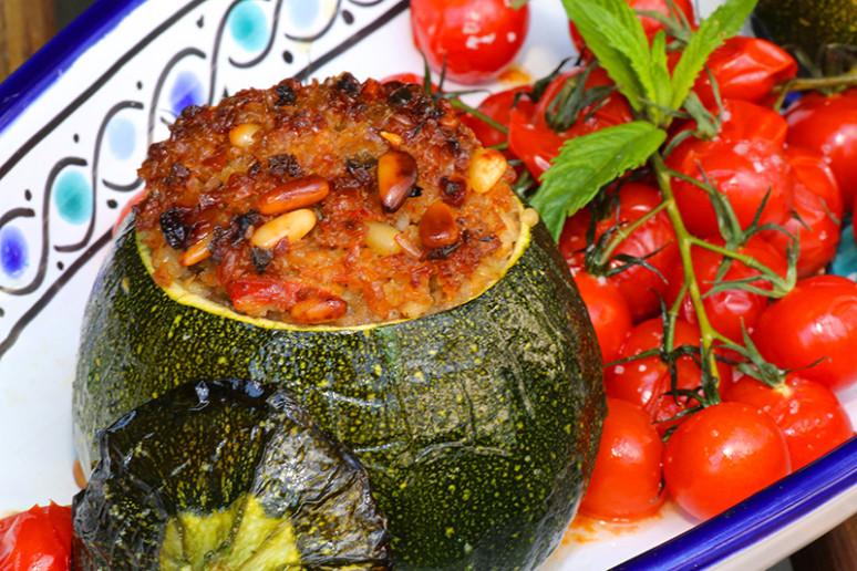 Courgettes rondes farcies au boulgour - Cuisiner courgettes rondes ...