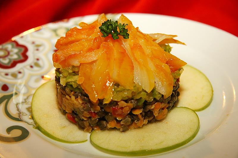 salade de haddock aux lentilles et pommes vertes la cuisine de jackie. Black Bedroom Furniture Sets. Home Design Ideas