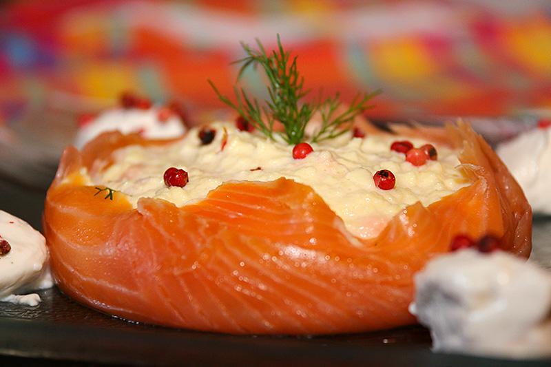 Brouillade de saumon en turban la cuisine de jackie - Oeufs brouilles bain marie ...