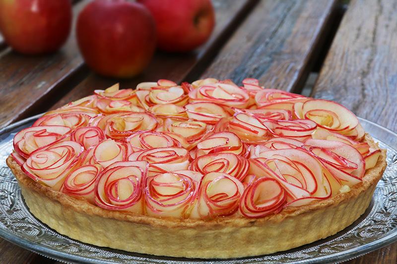 Tarte Aux Pommes Comme Un Bouquet De Roses