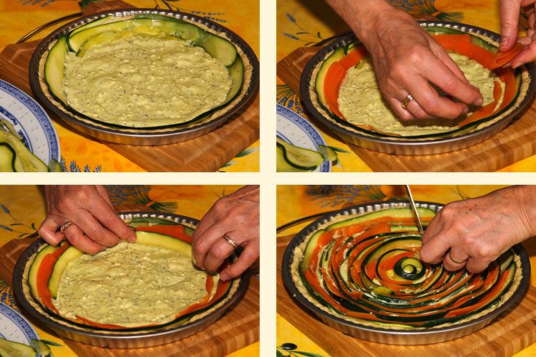 tarte spirale montage